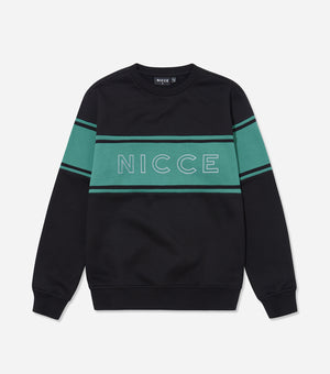 NICCE Mens Panel Sweat | Black, Sweatshirts