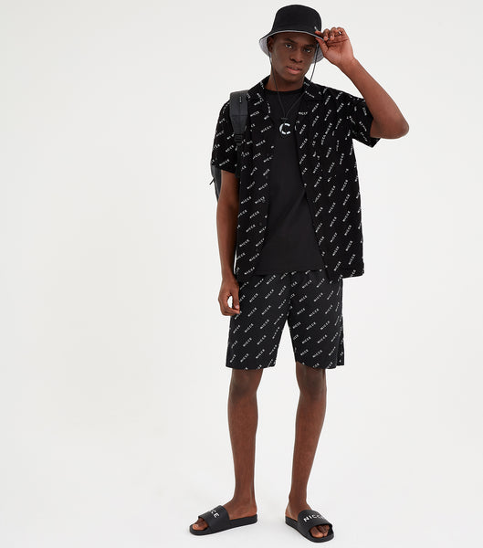 NICCE Mens All Over Print Shorts | Black, Shorts