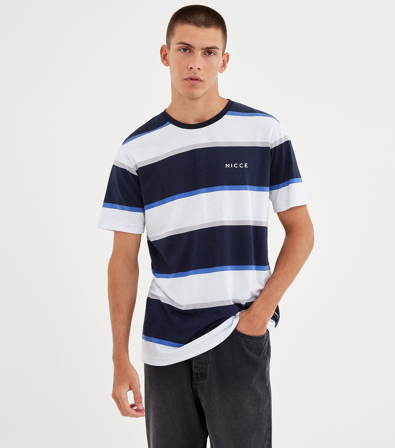 NICCE Mens Colum T-Shirt | Deep Navy, T-Shirts
