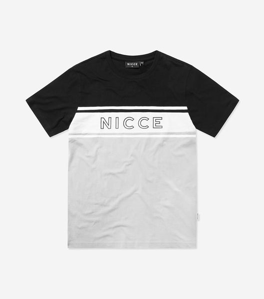 NICCE Mens Panel T-Shirt | Stone Grey, T-Shirts