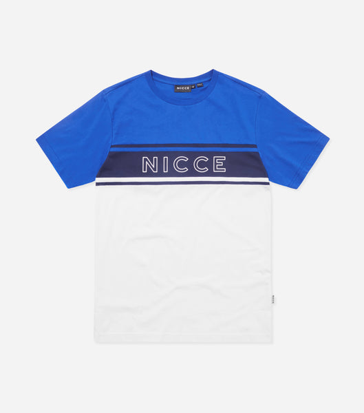 NICCE Mens Panel T-Shirt | White