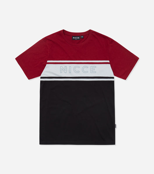 NICCE Mens Panel T-Shirt | Merlot, T-Shirts