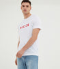 Nicce Mens Mercury T-Shirt | White/Aurora Red, T-Shirts