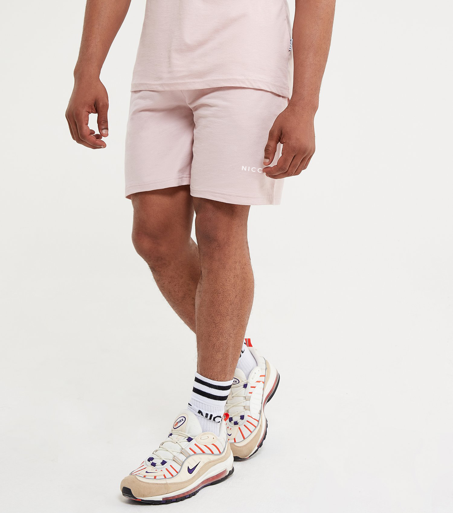 NICCE Mens Steel Shorts | Dirty Pink