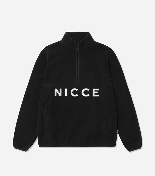 NICCE Mens Corto Half Zip Fleece | Black, Tops