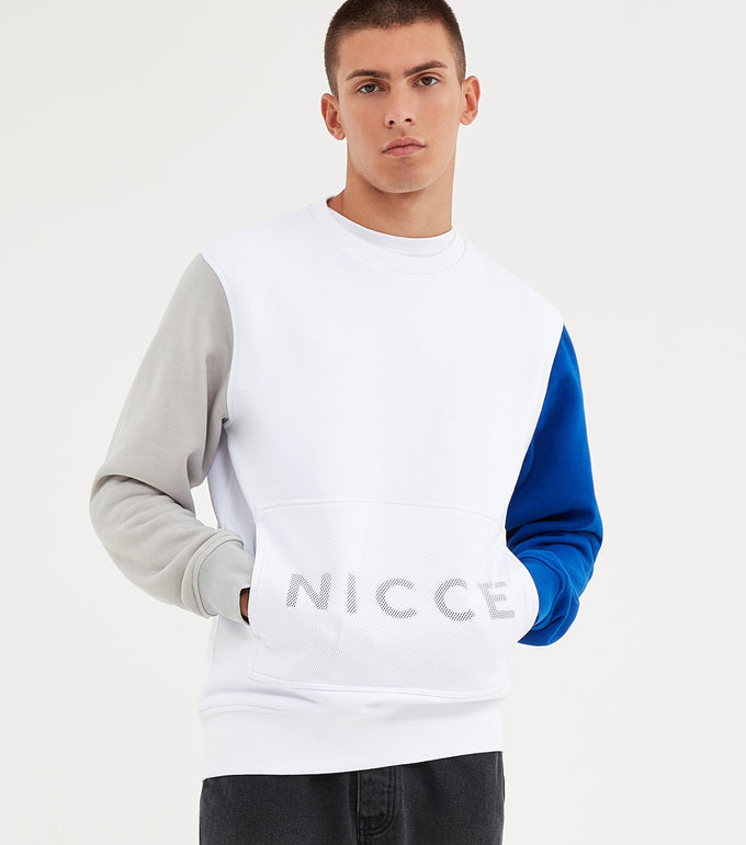 NICCE Mens Kino Sweat | White, Sweatshirts