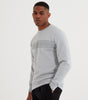 NICCE Mens Reflective Reflex Sweat | Stone Grey, Sweatshirts