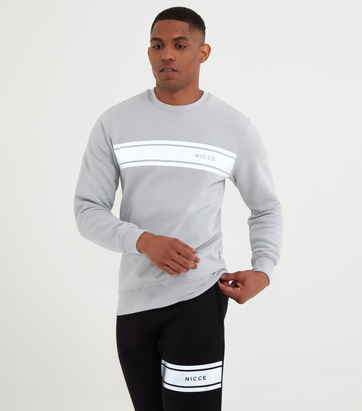 NICCE Mens Reflex Sweat | Stone Grey, Sweatshirts