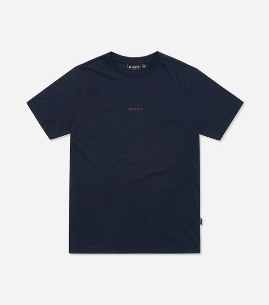 NICCE Mens Mini Centre Logo T-Shirt | Deep Navy, T-Shirts