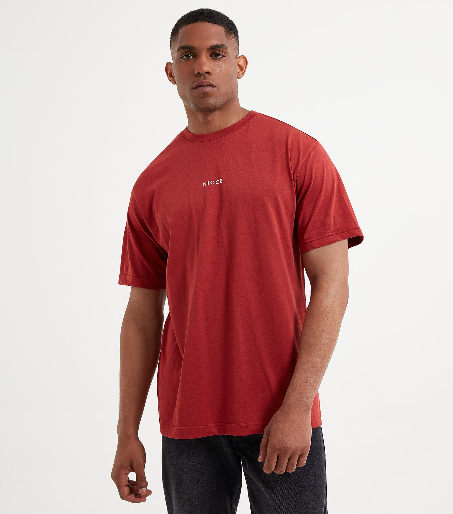 NICCE Mens Mini Centre Logo T-Shirt | Loganberry, T-Shirts