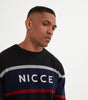 NICCE Mens Calim Knit Jumper | Black, Tops