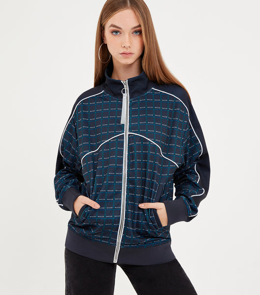 NICCE Womens NICCE Check Track Top | Navy, Tops