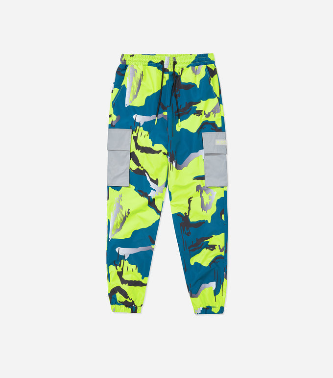 NICCE Mens Nitric Camo Track Pants | Safety Yellow Camo, Track Pants
