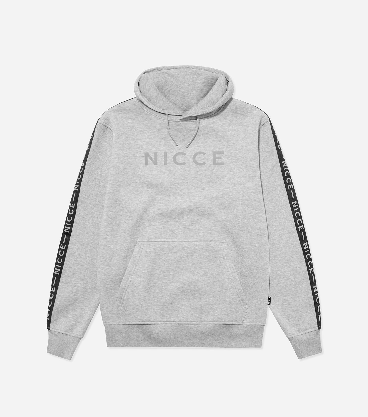 NICCE Mens Trail Star Hood | Light Grey Marl, Hoodies