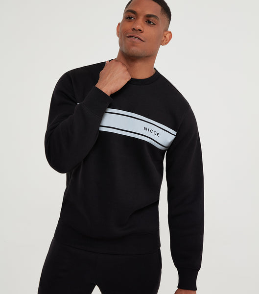 NICCE Mens Reflex Sweat | Black, Sweatshirts