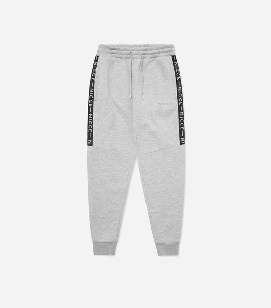 NICCE Mens Reflective Trail Star Joggers | Light Grey Marl, Joggers