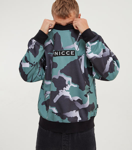 NICCE Mens Meta Sweat | North Atlantic Camo, Sweatshirts