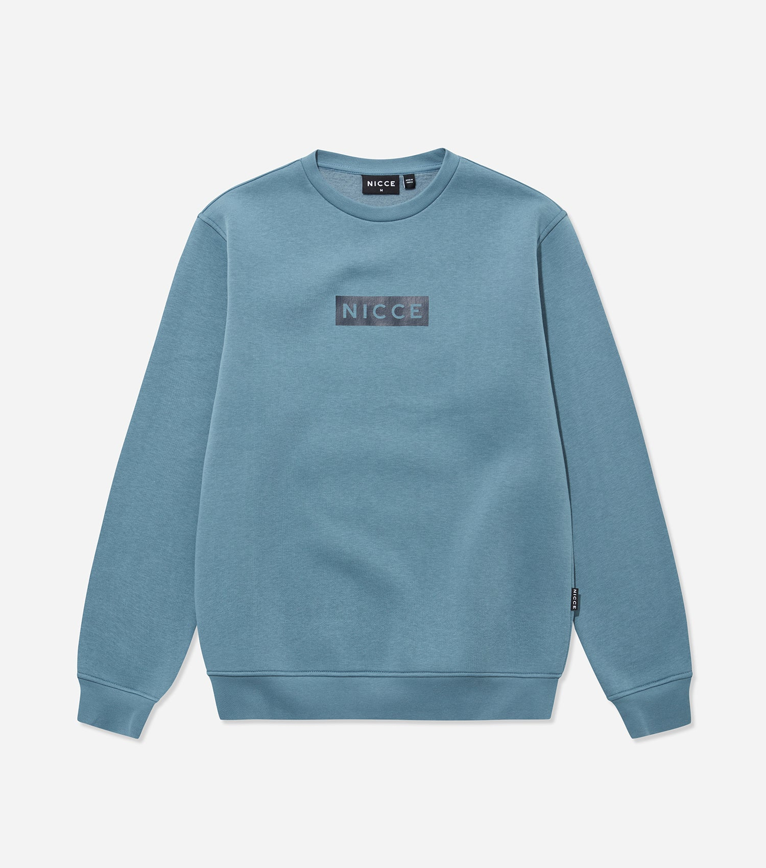Nicce Mens Base Sweat | Blue Mirage/ Deep Navy, Sweatshirts