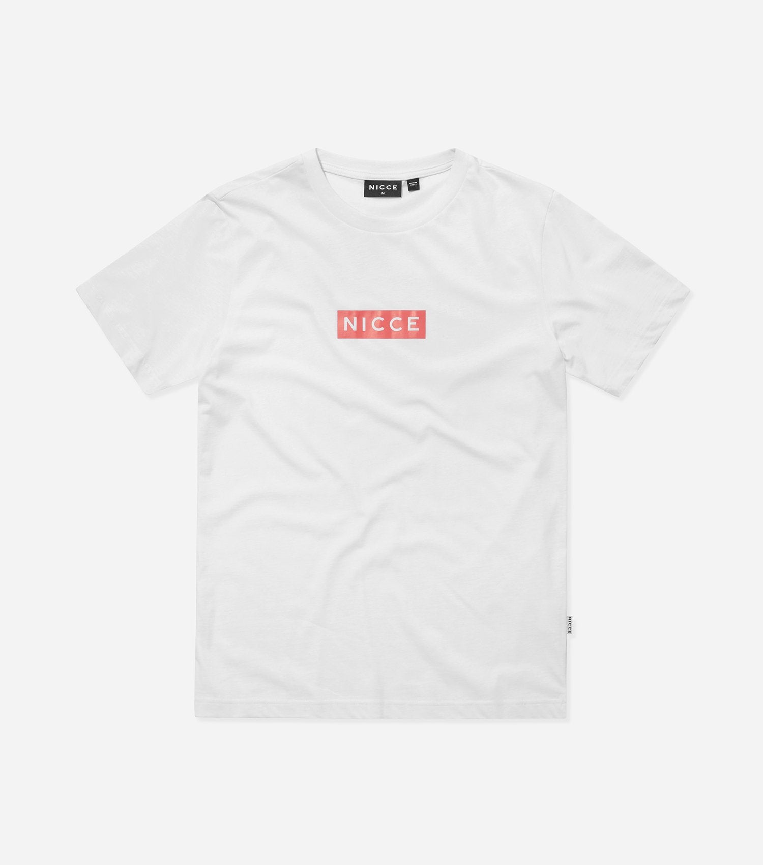 NICCE Mens Base T-Shirt | White/Holly Berry, T-Shirts