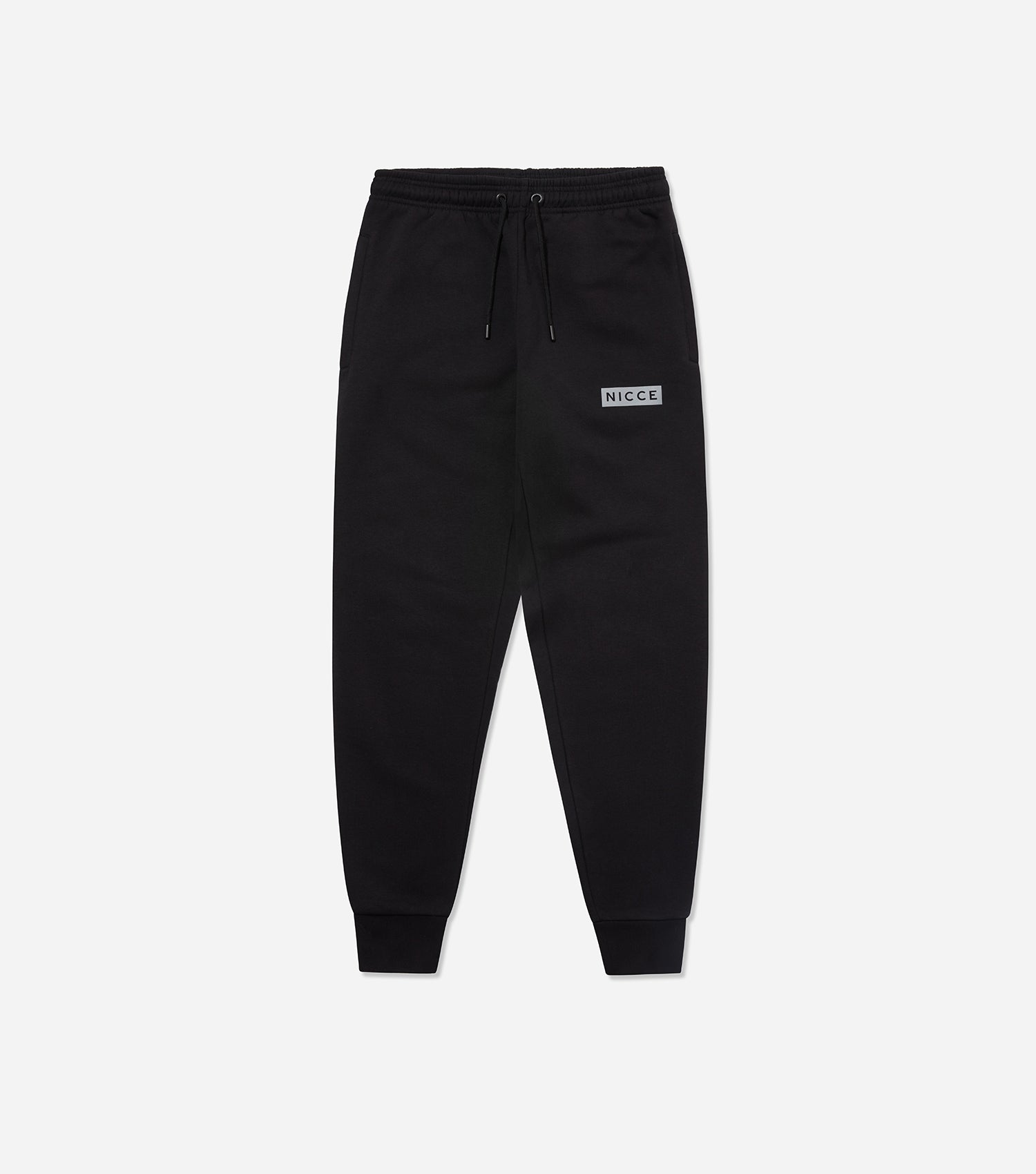 NICCE Mens Reflective Base Joggers | Black, Joggers
