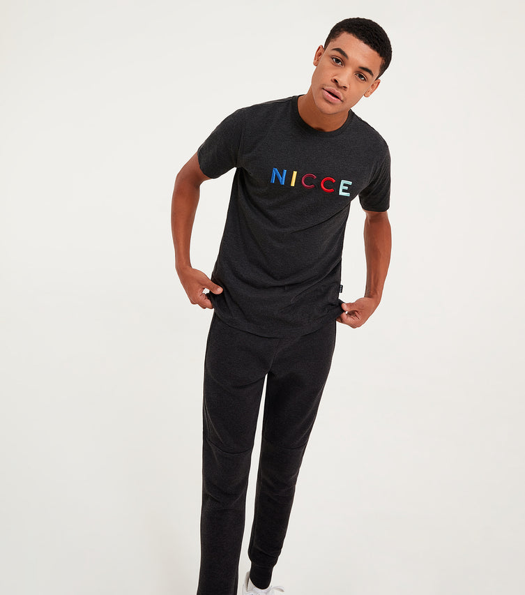 Nicce Mens Dallas Joggers | Coal Marl