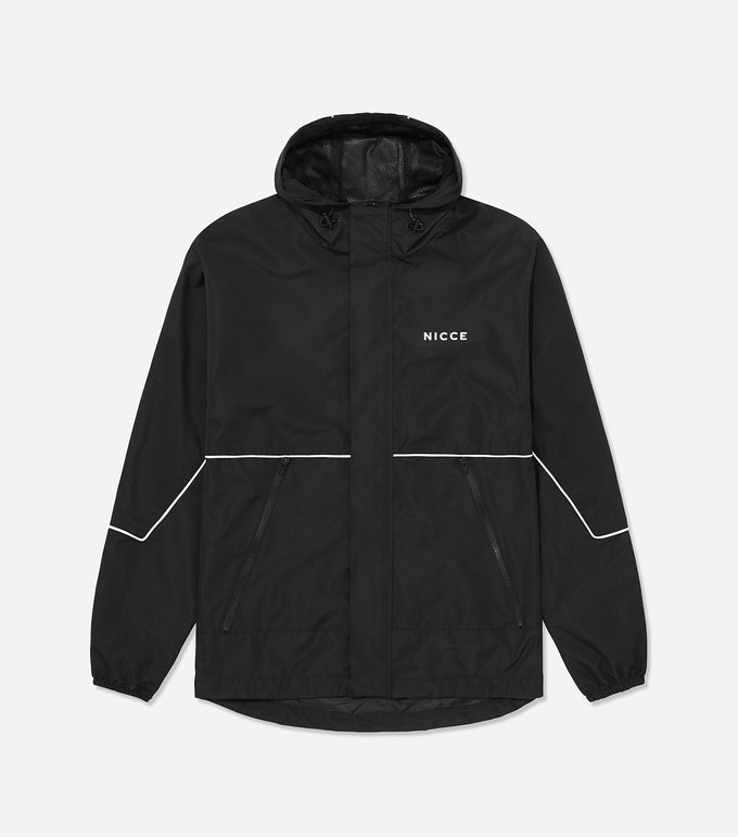 Nicce Mens Reflective Cahoon Jacket |Black, Outerwear
