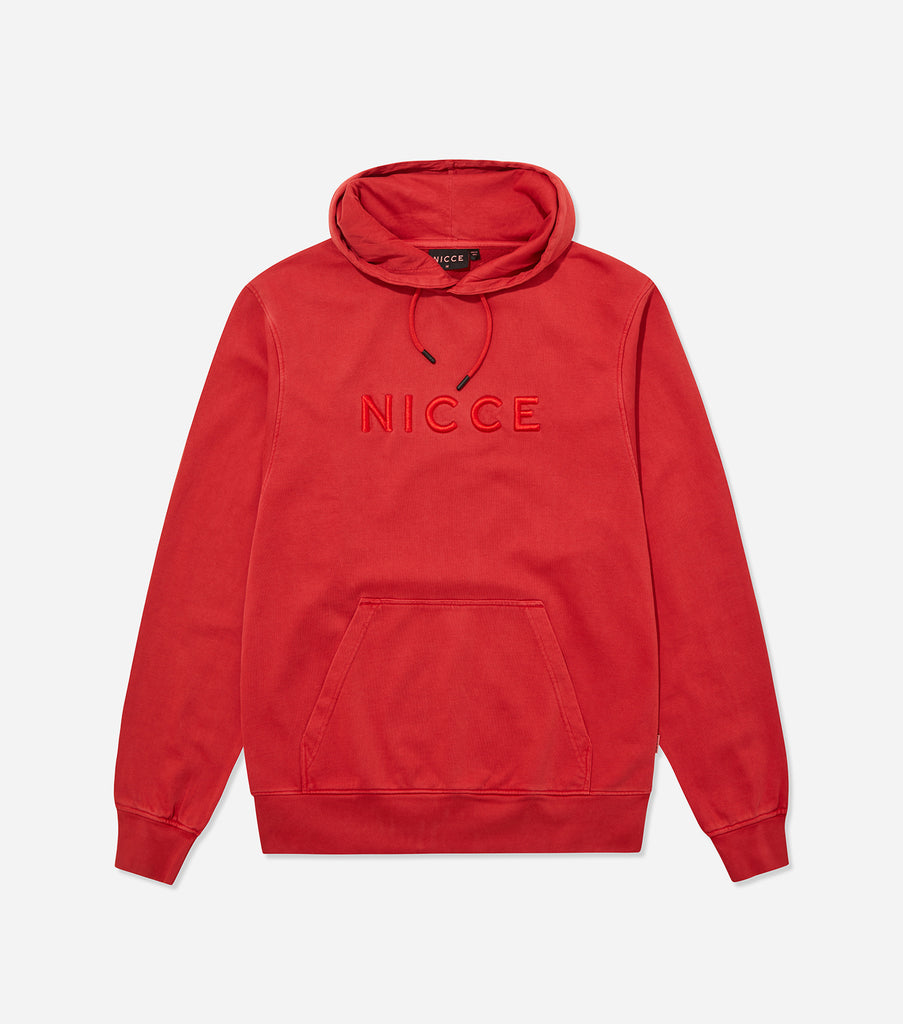 Nicce Mens Drift Os Hood | Aurora Red, Hoodies