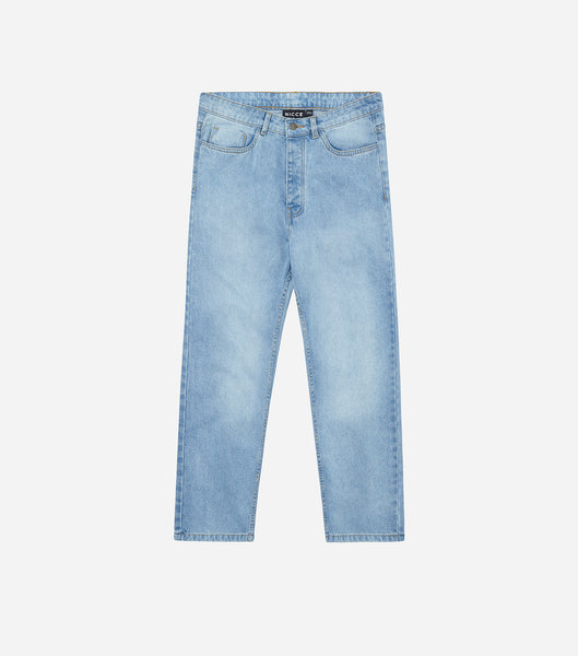 Nicce Mens London Jeans | Stone Wash Blue, Jeans