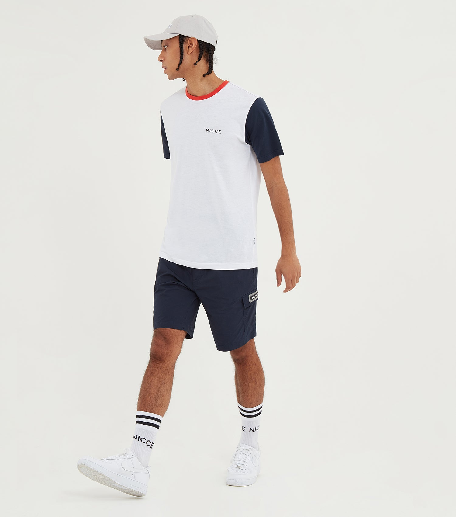 Nicce Mens Cargo Shorts | Deep Navy, Shorts