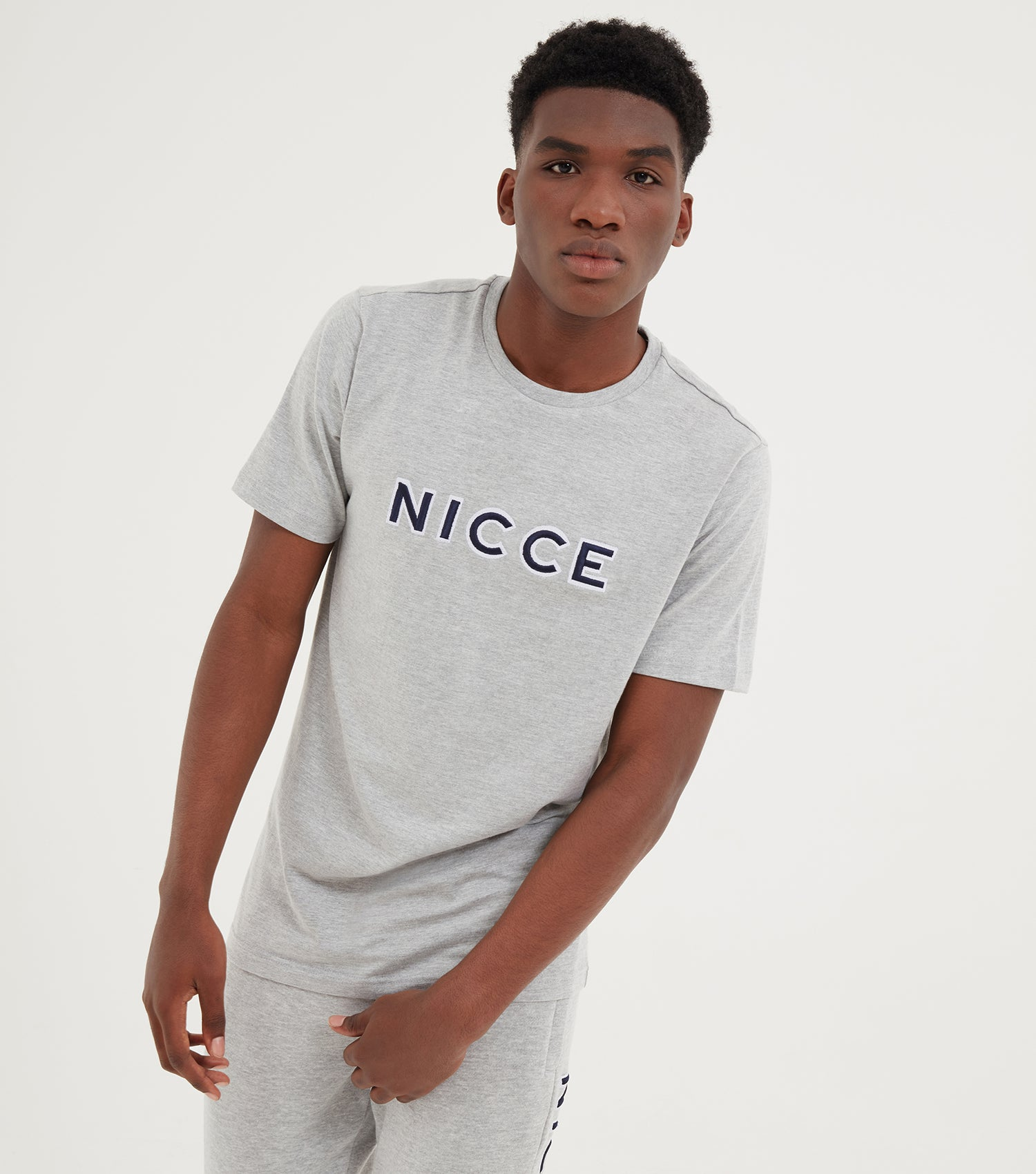 NICCE Mens Truman T-Shirt | Grey Marl