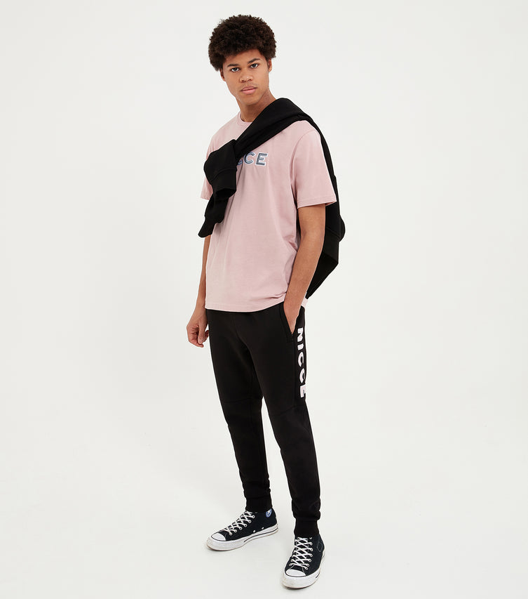 Nicce Mens Truman T-Shirt | Sunset Pink