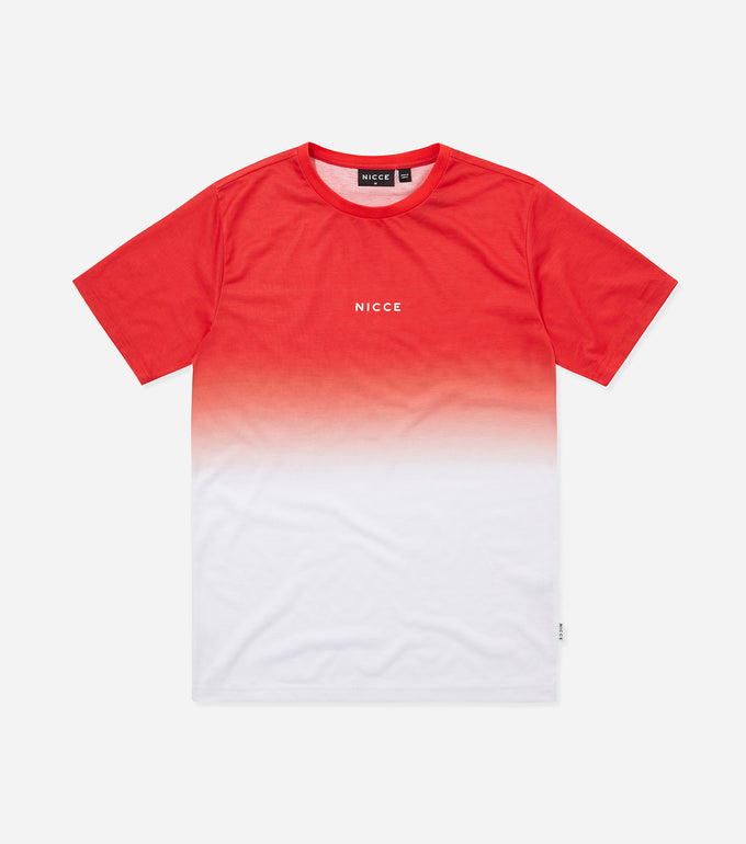 Nicce Mens Fade T-Shirt | Aurora Red Ombre, T-Shirts