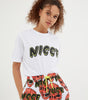 NICCE Womens Cranium Shorts | White/Fiery Coral, Shorts
