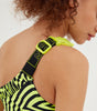 NICCE Womens Vortex Swimsuit | Neon Yellow/Black, Bodysuits