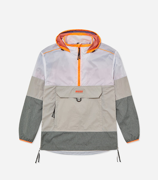 Nicce Mens Discovery Jacket | Orange Multi/Glacier Grey, Outerwear