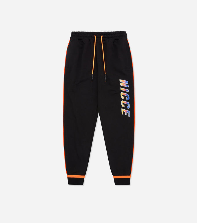 Nicce Mens Avalon Joggers | Black/Orange Clownfish, Joggers