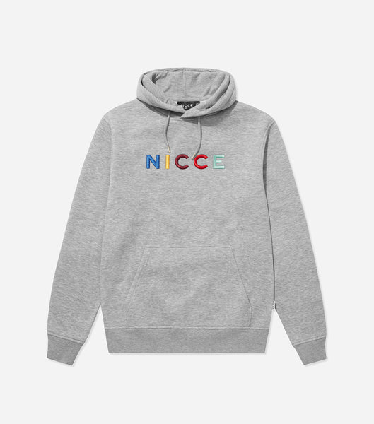 NICCE Mens Dallas Hood | Light Grey Marl, Hoodies