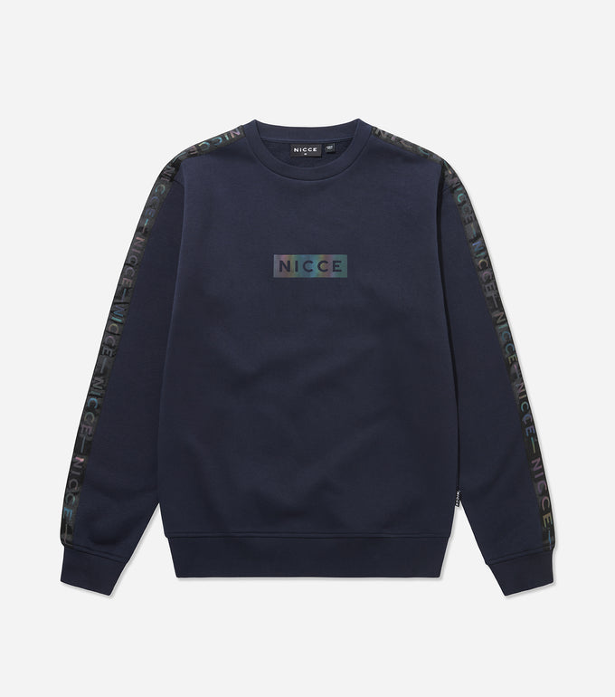 Nicce Mens Trivo Sweat Track Top | Deep Navy