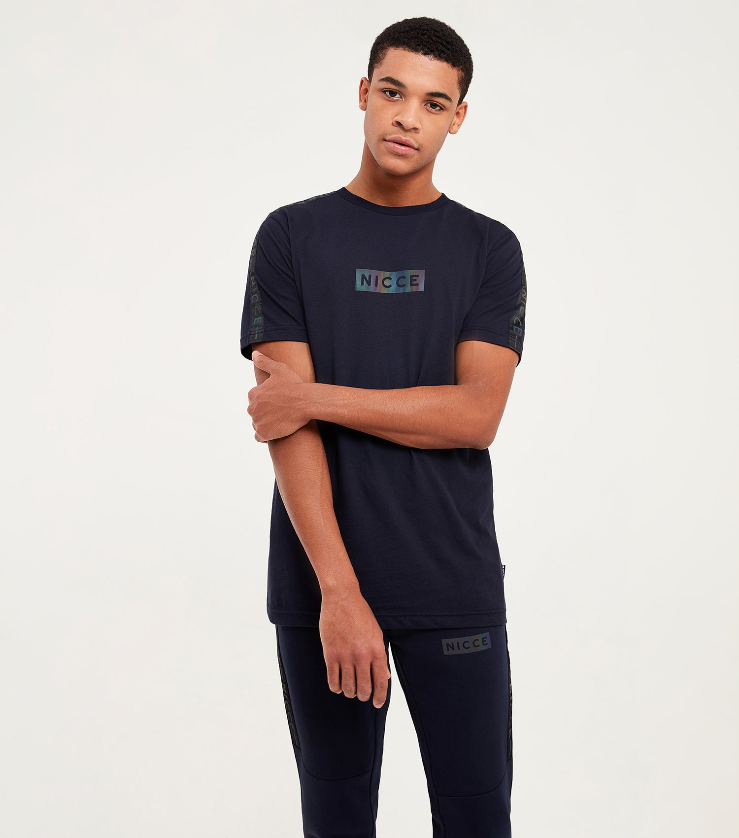 Nicce Mens Trivo T-Shirt | Deep Navy