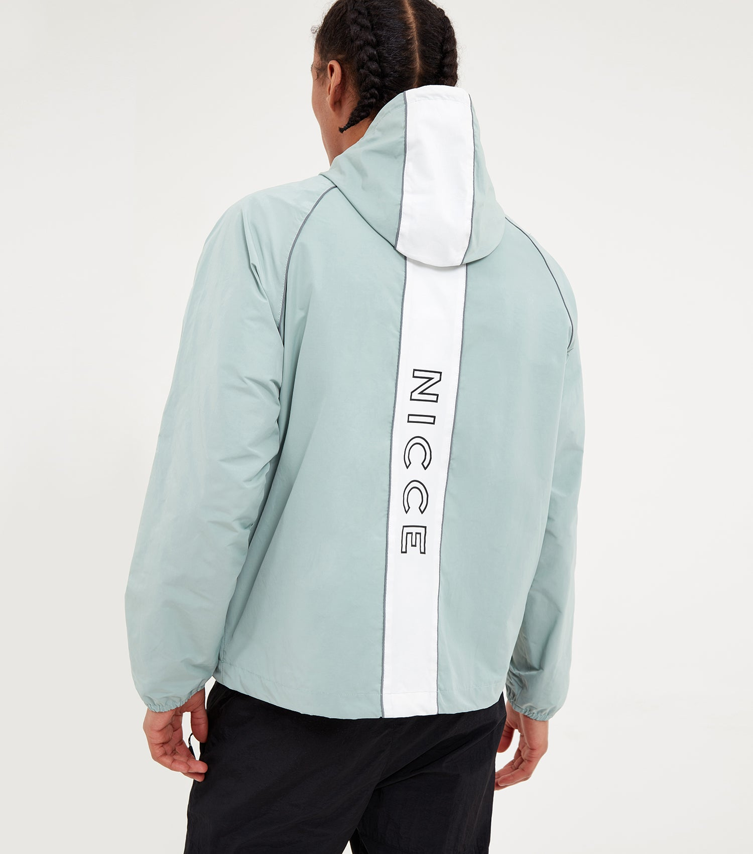 NICCE Mens Linear Cagoule | Seafoam/White, Outerwear