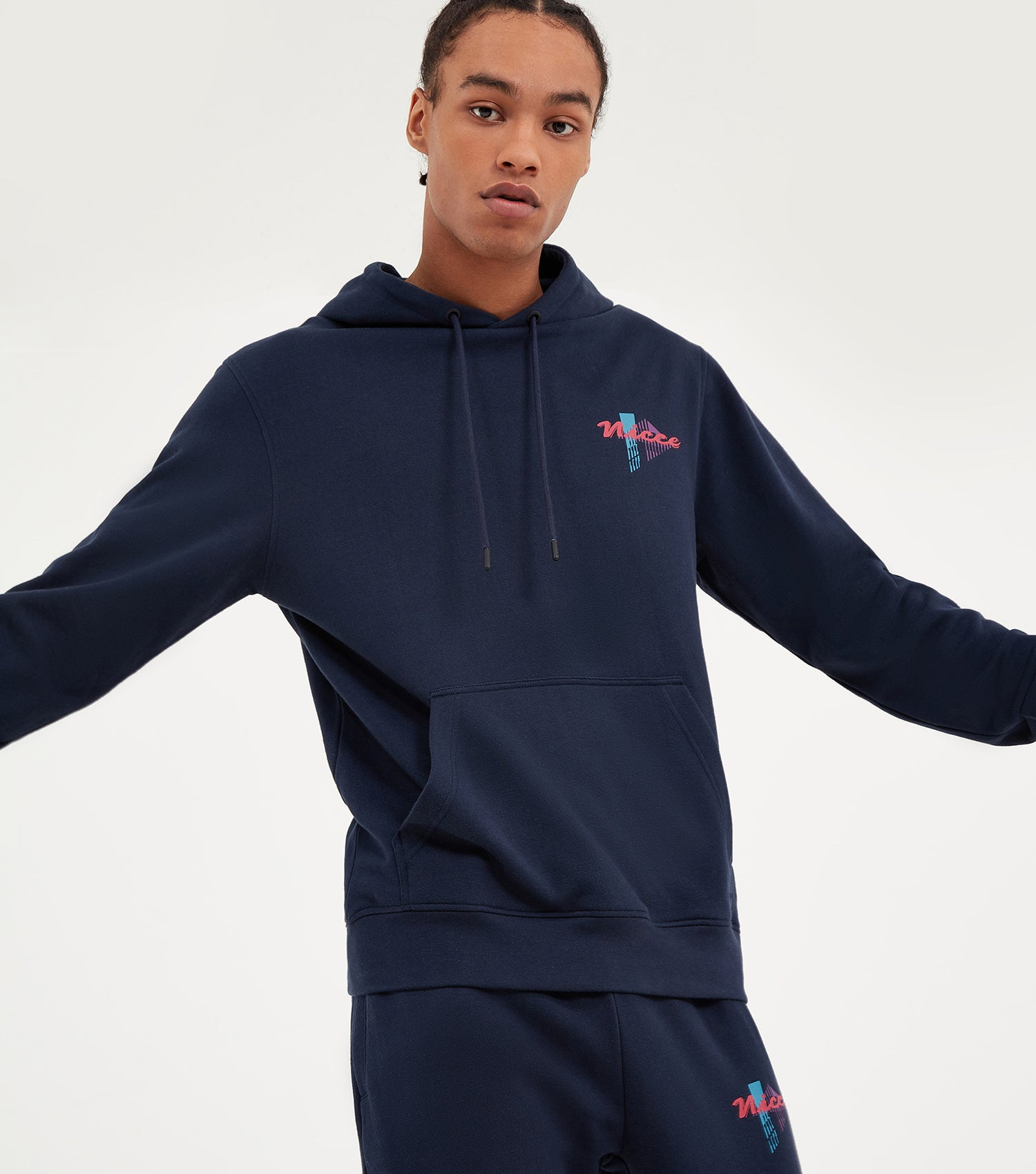 NICCE Mens Miami Hood | Deep Navy, Hoodies