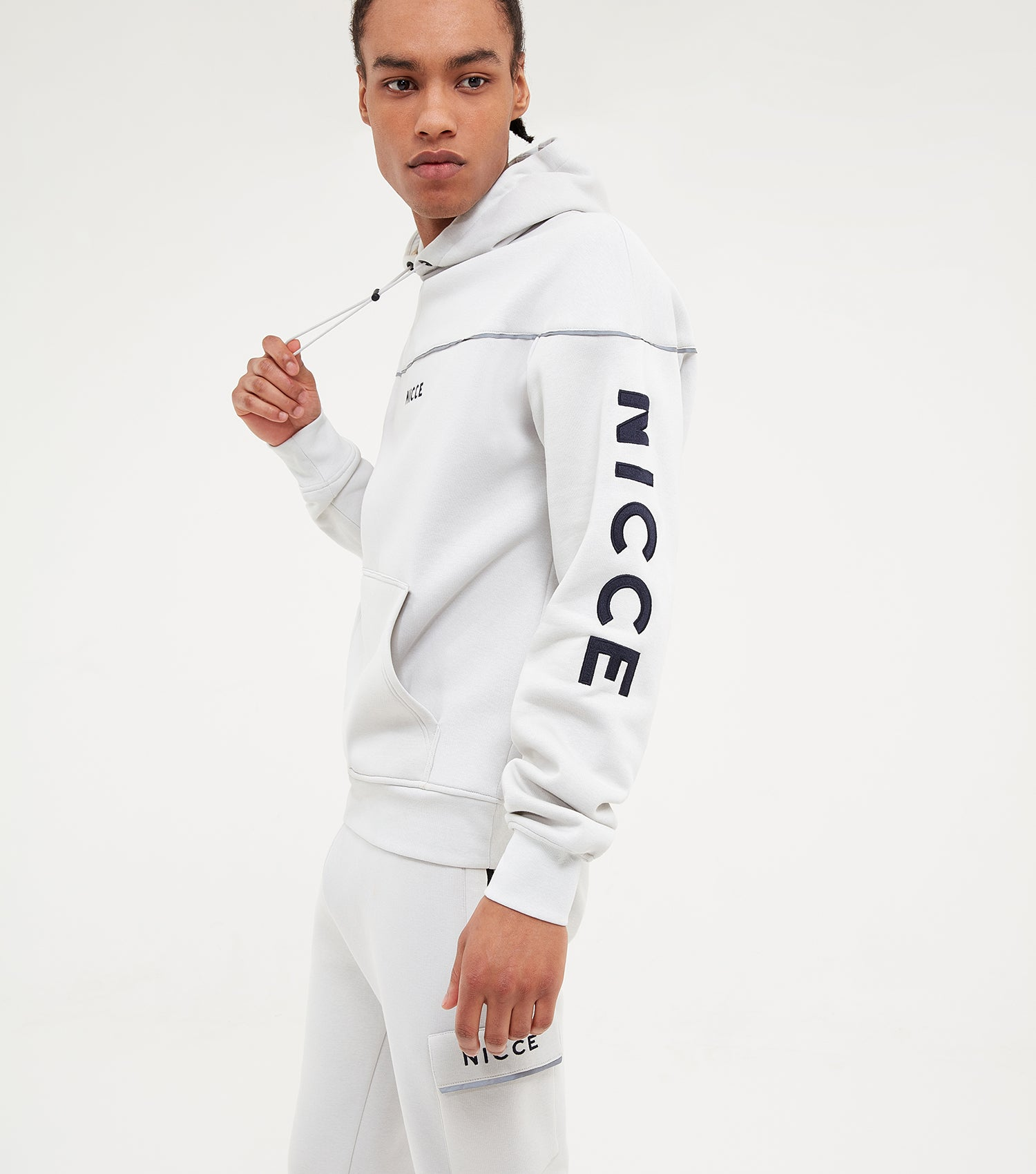 NICCE Mens Alpha Hood | Glacier Grey, Hoodies
