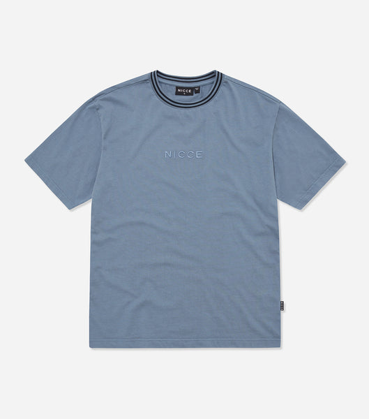 Nicce Mens Melrose OS T-Shirt | Blue Mirage, T-Shirts