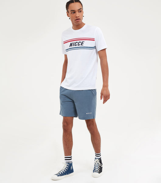 Nicce Mens Border T-Shirt | White, T-Shirts