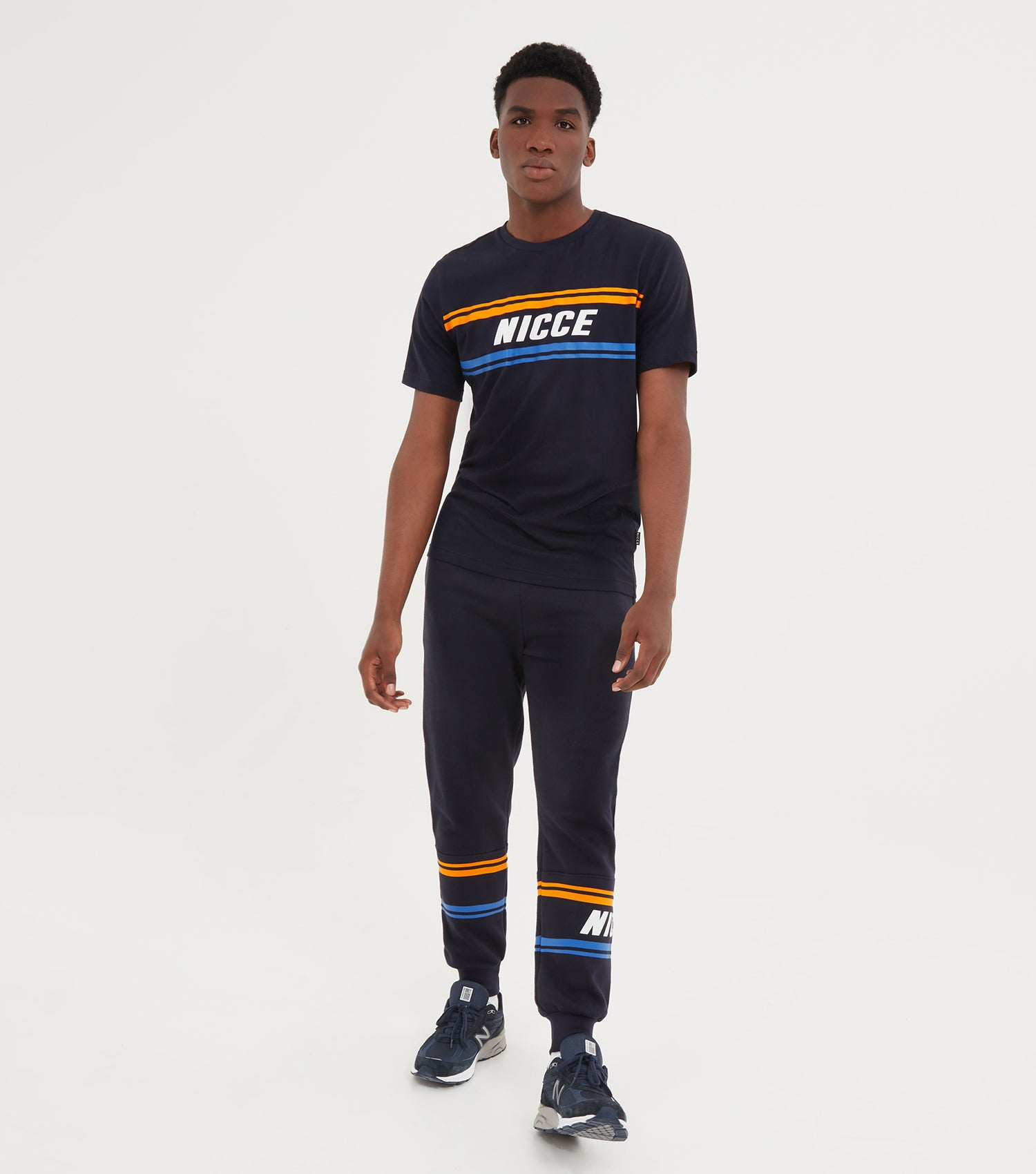 NICCE Mens Border T-Shirt | Deep Navy, T-Shirts