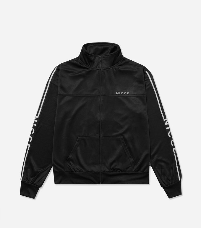 Nicce Mens Vertex Track Top | Black