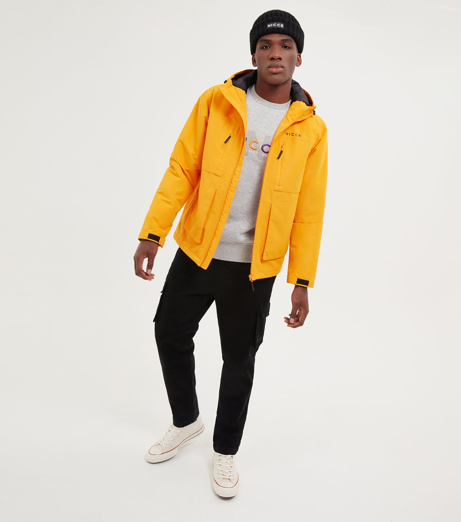 NICCE Mens Meson Jacket | Orange, Outerwear