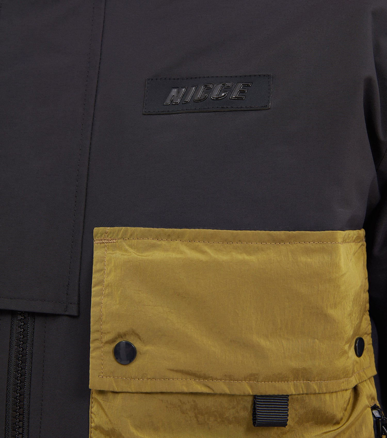 NICCE Mens Jacket Type 2 | Black/ Green