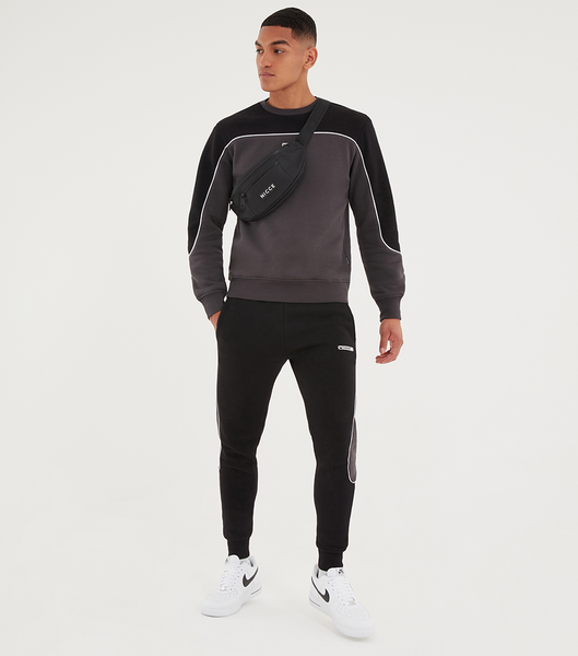 NICCE Mens Ark Sweat | Black/Coal