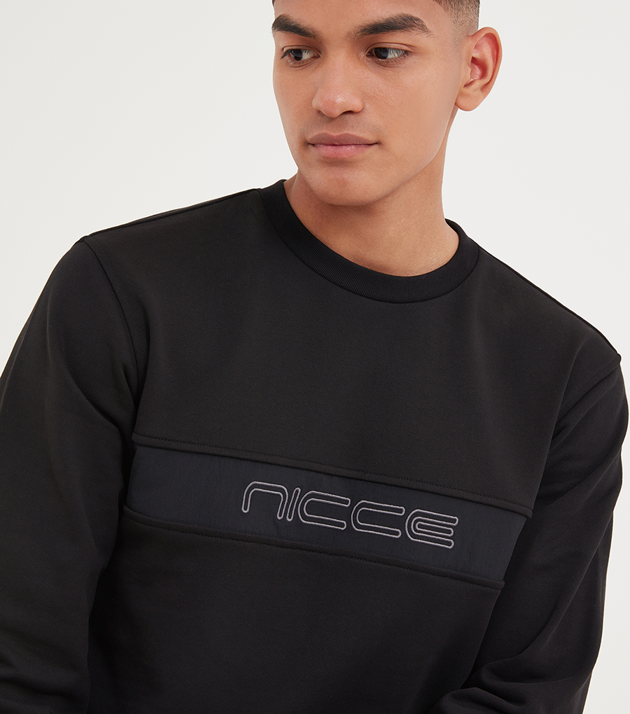 NICCE Mens Axe Sweat | Black
